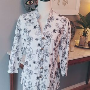 Charter Club - Embroidered top w/toggles